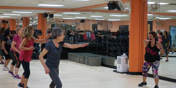 Active older adult dance workout